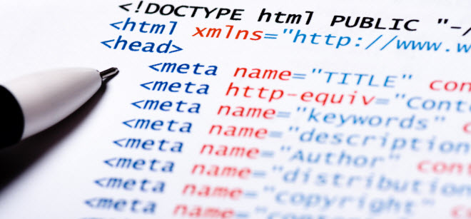 meta tags on your website