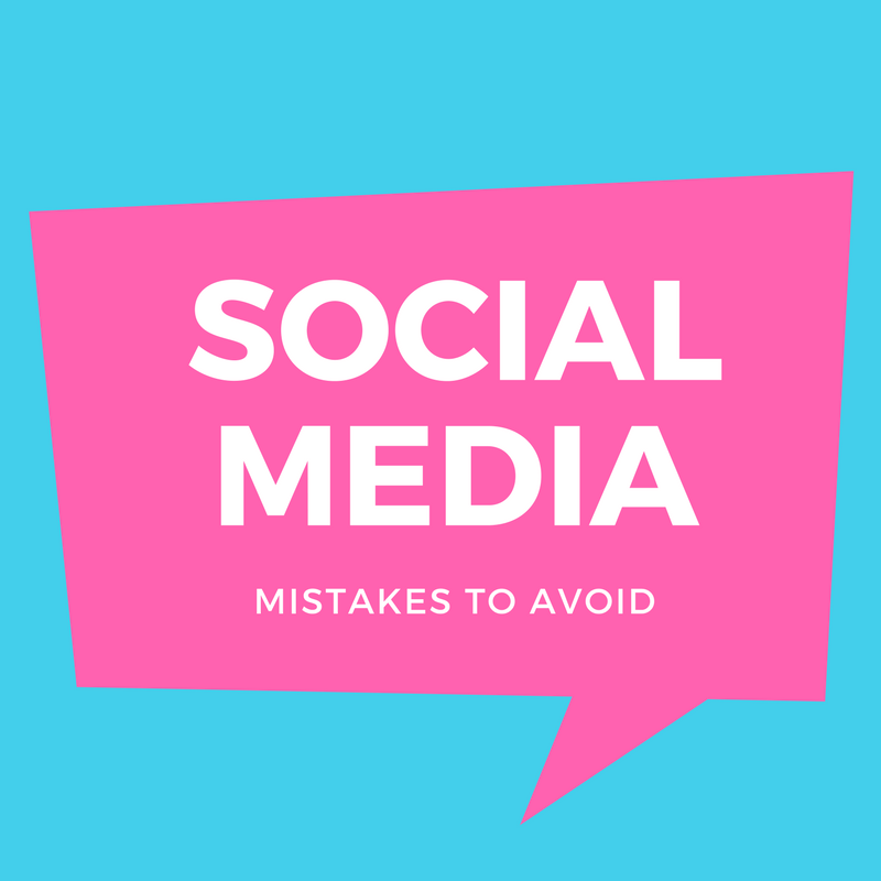 Mistakes to avoid on facebook