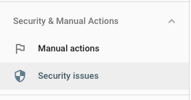 search console Google security issues
