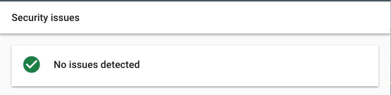 Google search console screenshot